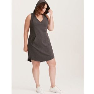 Torrid Grey French Terry Hooded Dress Size 3 (3X)
